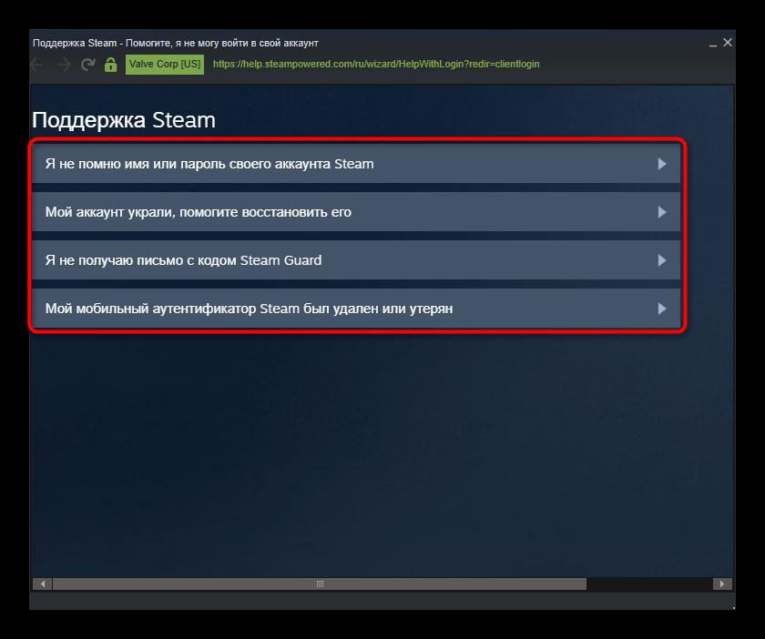 Поддержка Steam